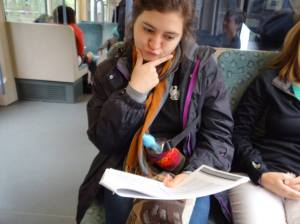 Ximena on the Train