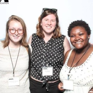 The 2014-2015 Feminist & Gender Studies Student Advisory Council from L to R: Savannah Johnson, Anna Naden, and Kadesha Caradine