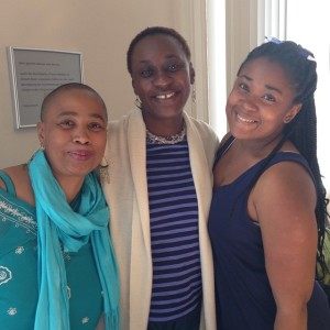 Aishah Shahidah Simmons (Course Associate), Dr. Maisha Eggers, and Heidi