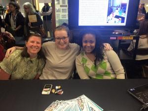 2014 SAC Members Anna Naden and Savannah Johnson with Heidi at Admitted Student Open House in April 2015