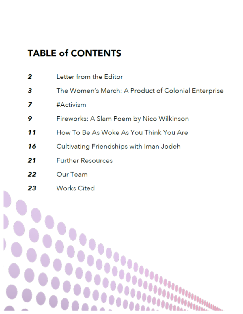 While Things Are Stirring (ToC)
